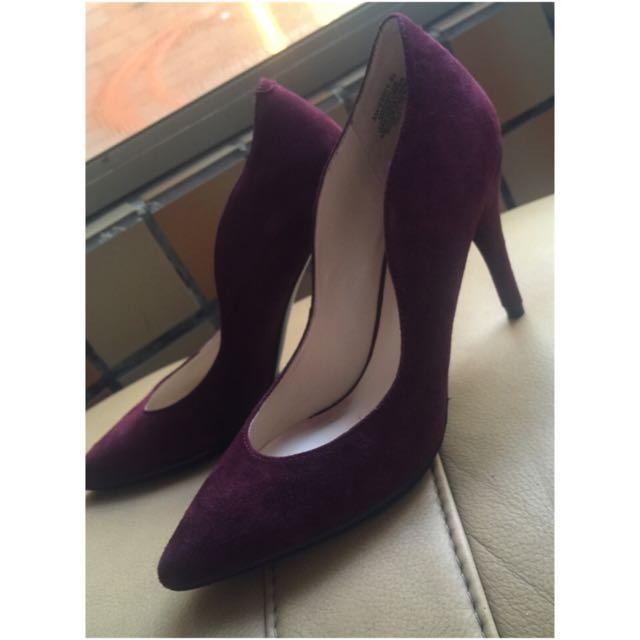 Nine West 二手 高跟鞋 紫 鞋 尖頭
