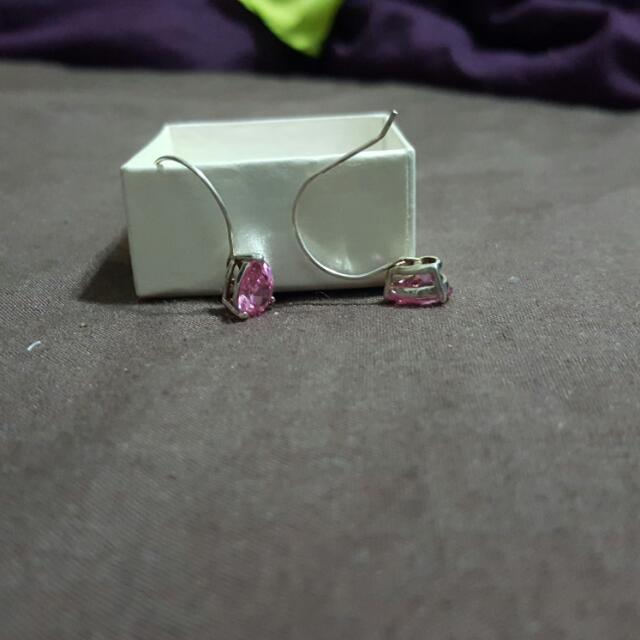 Pink Hanging Earrings