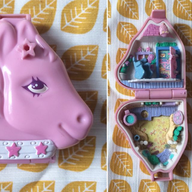 Polly Pocket Western Pony Vintage compact
