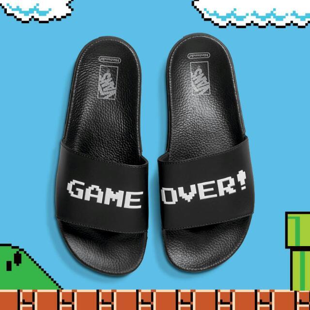 b2032a2b538 PO)Vans X Nintendo Game Over Slide UNISEX