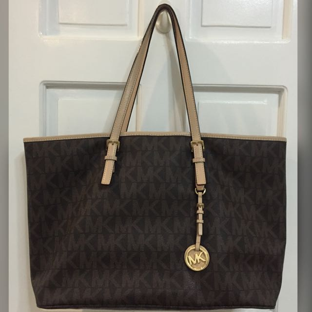 Preloved MK Monogram Large Tote