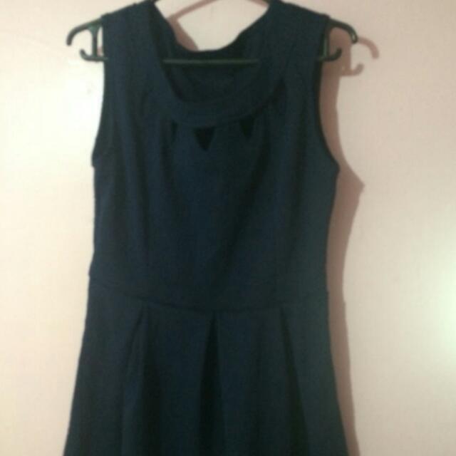 PRELOVED Navy Blue Dress