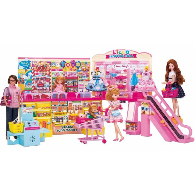 [Pre-order] Takara Tomy Licca chan Beep To Self-checkout! New Big Shopping Mall And Let's Go Buy Things! Shopping Cart Bundle Set