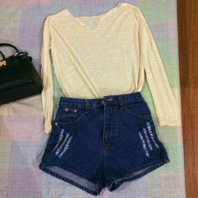 SALE Cream Pullover