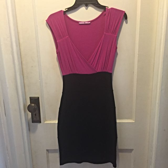 SMARTSET Hot Pink Stretchy dress sz xs