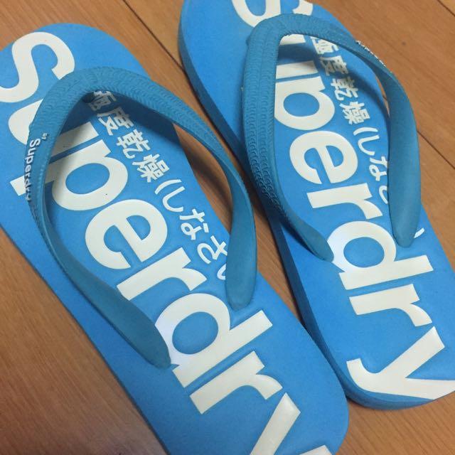 Superdry天藍色拖鞋