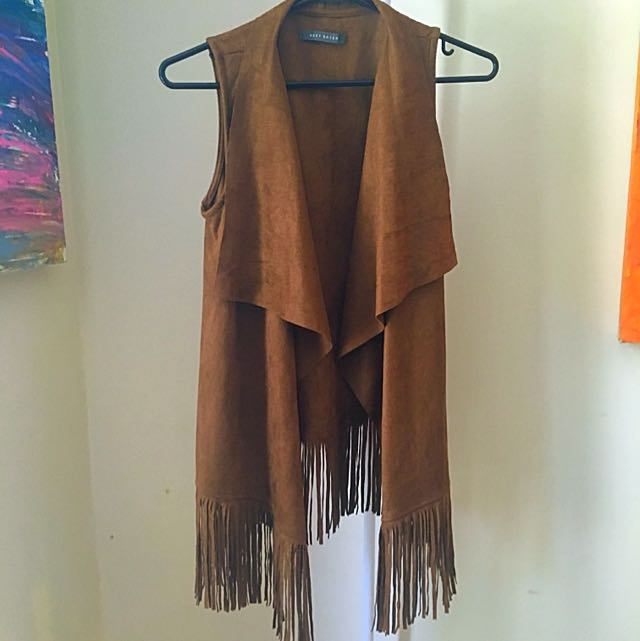 Suzy Shier Frayed Vest