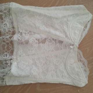 Pretty White Lace Corset