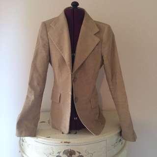 Beige Corded Blazer Women's Size 4