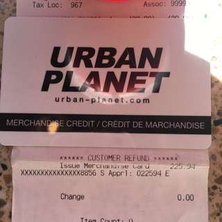 Urban Planet Gift Card