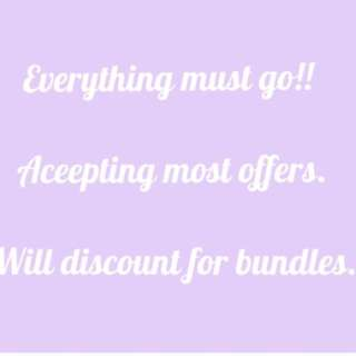 ⚠️ Everything Must Go⚠️