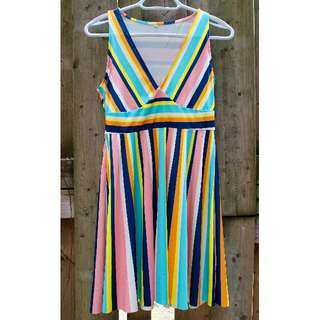 Summer dress, colourful stripes