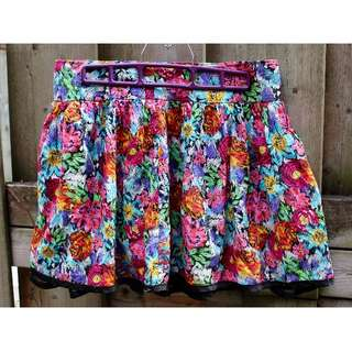 Summer skirt flowers