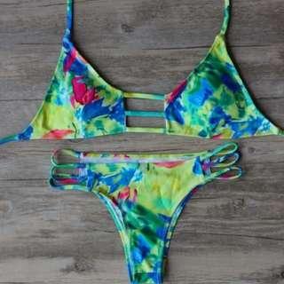 colour swirl bikini
