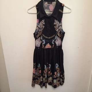 Bardot Silk Print Dress