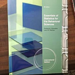 Essentials Of Stats For Behavioural Sciences 8th Ed