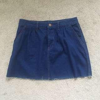 Zara Dark Denim Skirt