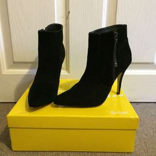 Sportsgirl Allegra Black High Heel Boots
