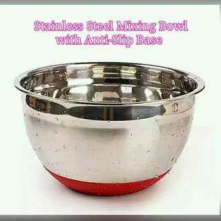 Stainless Steel Mixing Bowl With Anti Slip Base