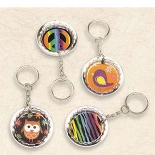 Customized Bottle Cap Keychains