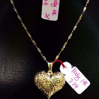 Italy 14k Heart necklace