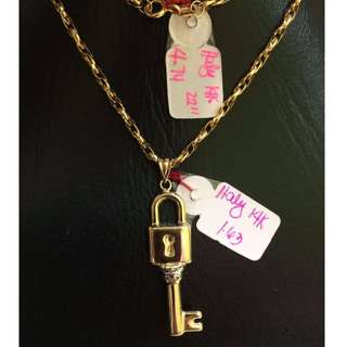 Italy 14k key necklace