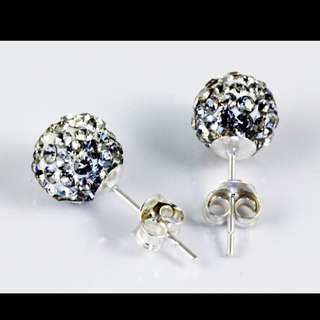Crystals Ear Studs 8mm & 6mm