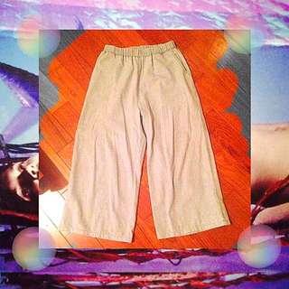 寬褲(水洗藍 x 灰)