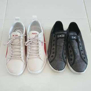 Used Puma And Converse Shoe