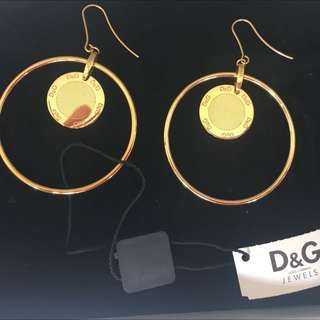 100% Authentic Dolce & Gabbana Gold Earings