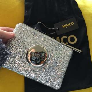 Mimco Small Silver Sparks Pouch