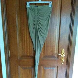 Bardot Khaki Wrap Skirt Size 8