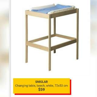 Ikea Changing Table (Sniglar) + accessories