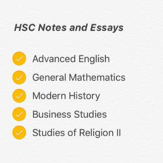 HSC Notes and Essays