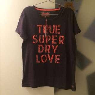 Superdry 女T 紫色全新S號
