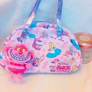 東京迪士尼樂園 愛麗絲 妙妙貓 下午茶 早期絕版款 手提包