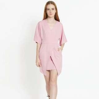 Pomelo Sz L Pink Sheath Dress