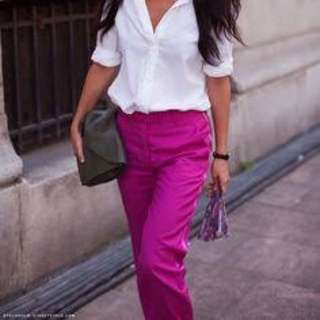H&m Fuschia Pants (satin Feel)