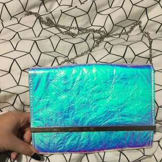 Colette Holographic Clutch Bag