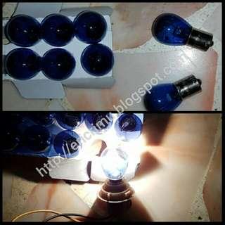 12V P21W 1156 White Halogen Bulbs