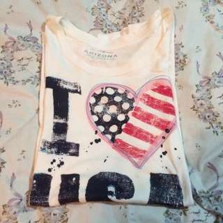 I 💟 USA White T-shirt