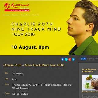 🎉RESERVED Charlie Puth