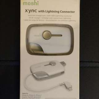 Moshi XYNC keychain charge/sync cable with Lightning Connector