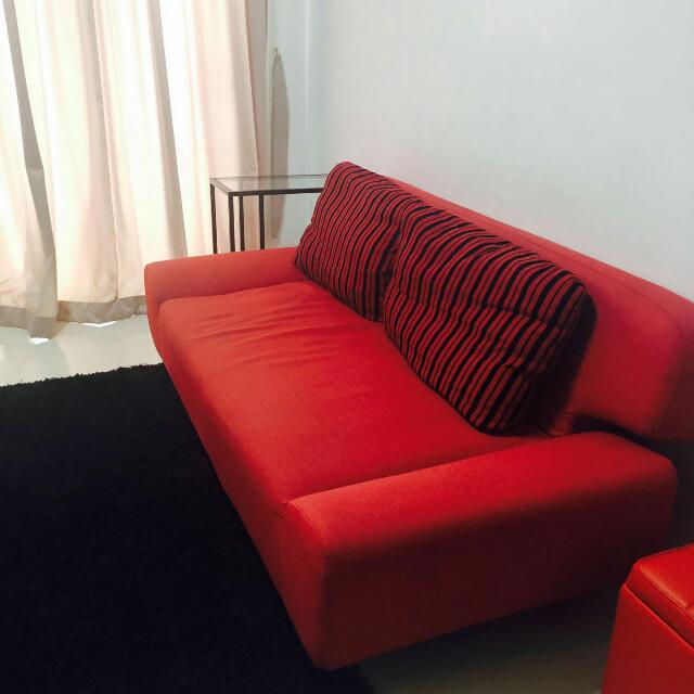 2 Seater Sofa Cum Bed Available For Immediate Pick Up