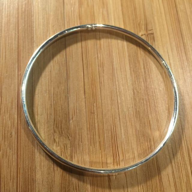 《手做設計》純銀素面圓管手環