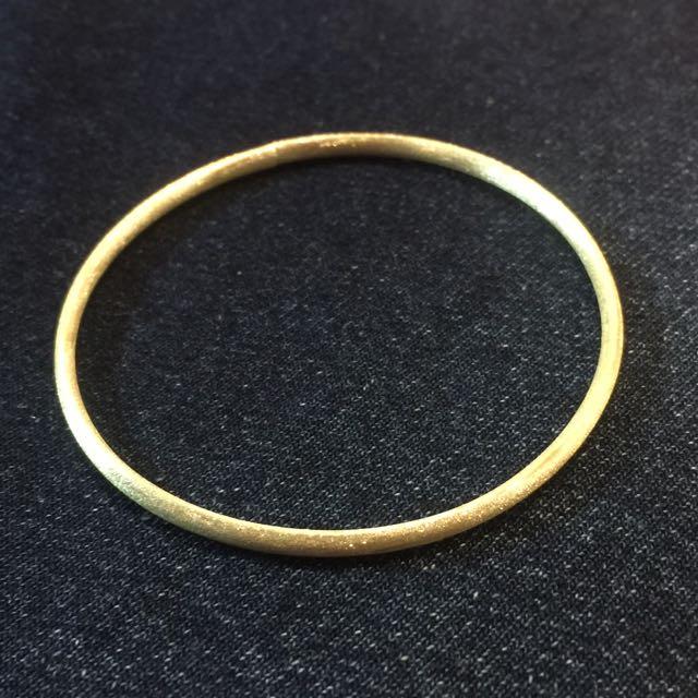 《手做設計》純銀閃鑽霧面手環