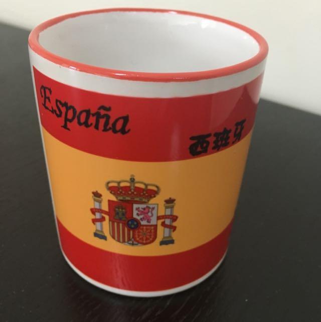 西班牙字體圖型馬克杯