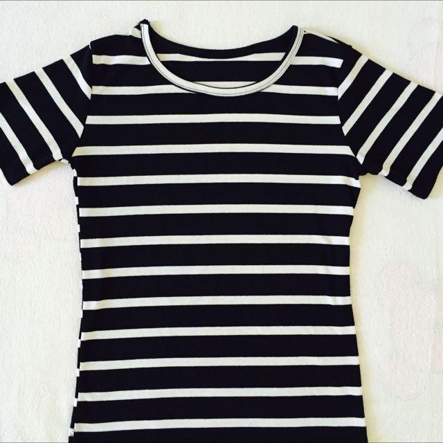 黑白條紋上衣