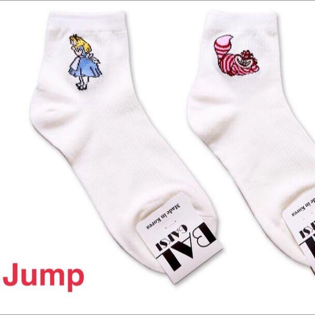 韓國 愛麗絲夢遊仙境系列中筒襪