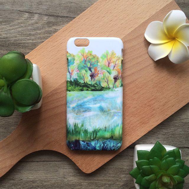 湖邊春色 //原創手機殼- iPhone, HTC, Samsung, Sony,oppo, LG 磨砂硬殼/全包軟殼